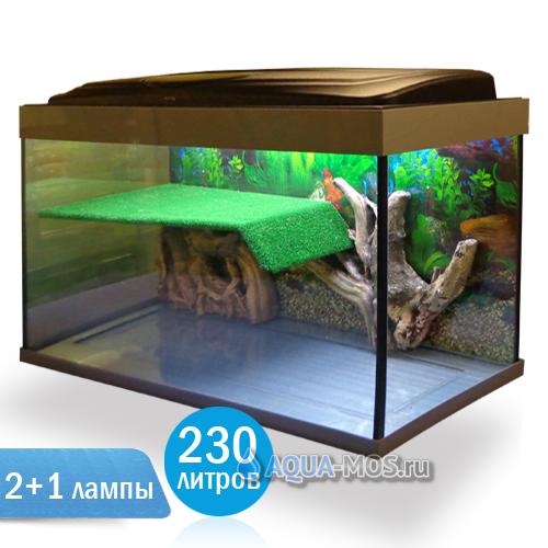 Аквариум террариум для красноухой черепахи